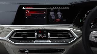 BMW X7 - Climate Control Menu