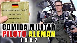 Probando COMIDA MILITAR DE PILOTO DE COMBATE ALEMÁN de 1987   MRE Alemania
