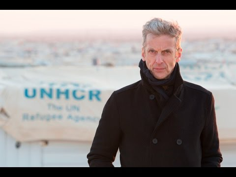 Peter Capaldi a.k.a. Dr Who meets Syrian refugees in Jordan with UNHCR