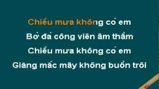 Mua Thu Trong Mua Karaoke - Khánh Ly - CaoCuongPro