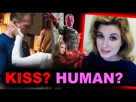 Avengers Infinity War - Human Vision & Scarlet Witch KISS!