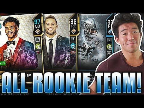 ALL ROOKIE LINEUP! KYLER MURRAY, NICK BOSA! Madden 20 Ultimate Team