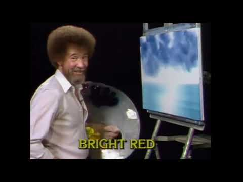 Please enjoy this sprawling ode to Bob Ross cleaning his paintbrush