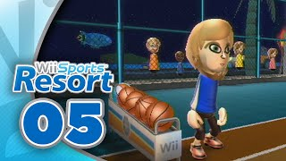 Wii Sports Resort: Part 05 | Basketball - 3 Point Contest (4-Player)