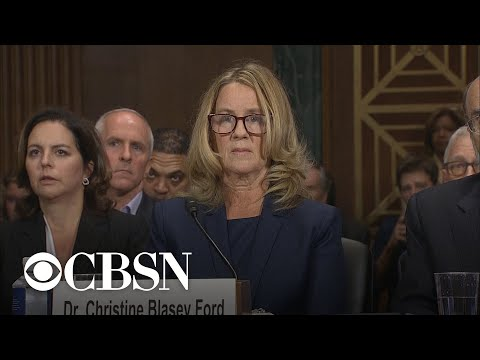 Christine Blasey Ford's  statement at Kavanaugh hearing