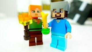Видео для детей. Конструктор и игры Майнкрафт со Стивом