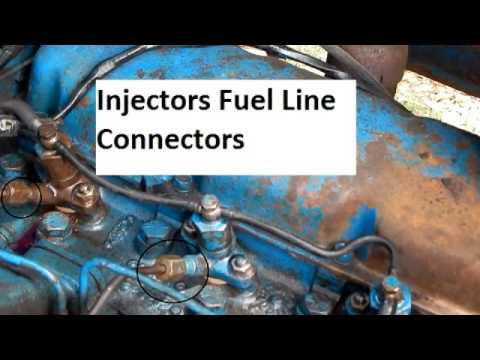 Ford 2000 Tractor Bleeding The Fuel System Youtube