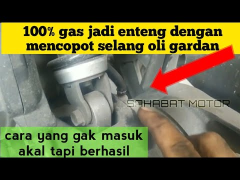 Cara Meringankan Gas Motor Metik