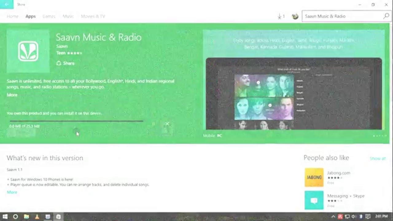 SAAVN For Windows 10