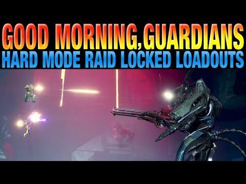 DESTINY 2 NEWS - Locked Loadouts Confirmed For Hard Mode Raid and Nightfall Strikes