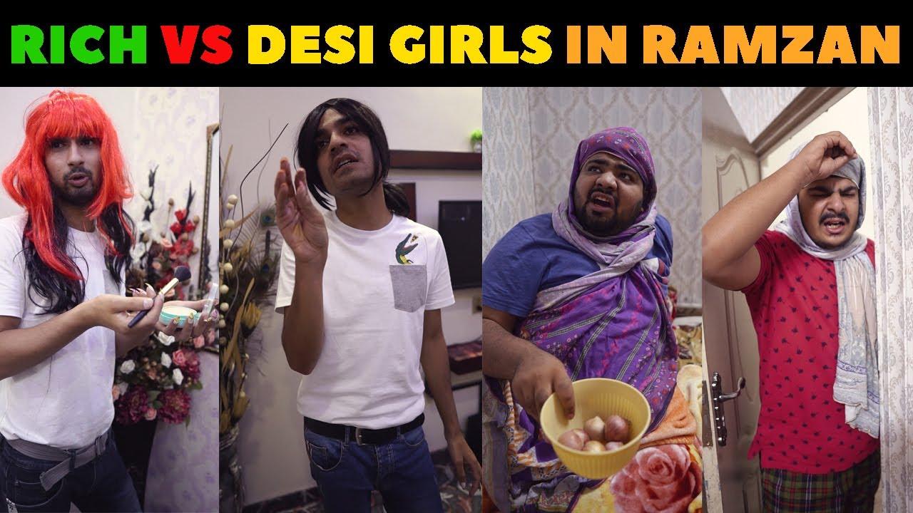 Rich Girls Vs Desi Girls in Ramzan | Waleed Wakar | DablewTee | UMF