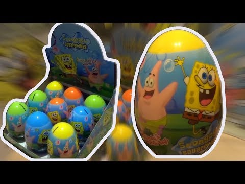 SpongeBob Squarepants 9 Kinder Surprise Eggs Dari The SpongeBob SquarePants Movie # 105