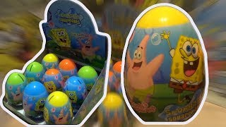 SpongeBob  Squarepants 9 Kinder Surprise Eggs from The SpongeBob SquarePants Movie