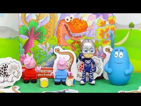 TROVIAMO i DINOSAURI! - Peppa Pig e George sfidano Barbapapà e Gattoboy a NasconDINO [Challenge]