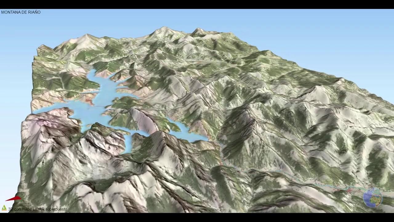 Montaña de Riaño en 3D