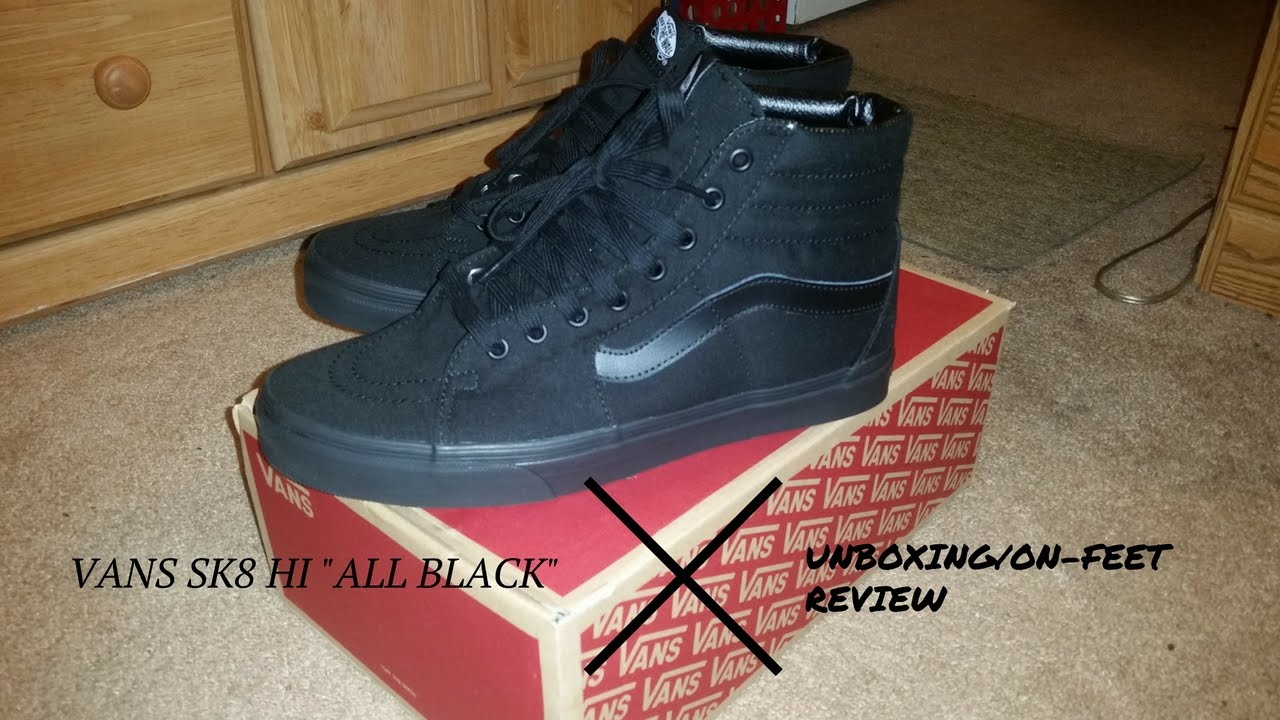 all black vans high tops