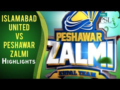 Match 13: Islamabad United vs Peshawar Zalmi - Highlights
