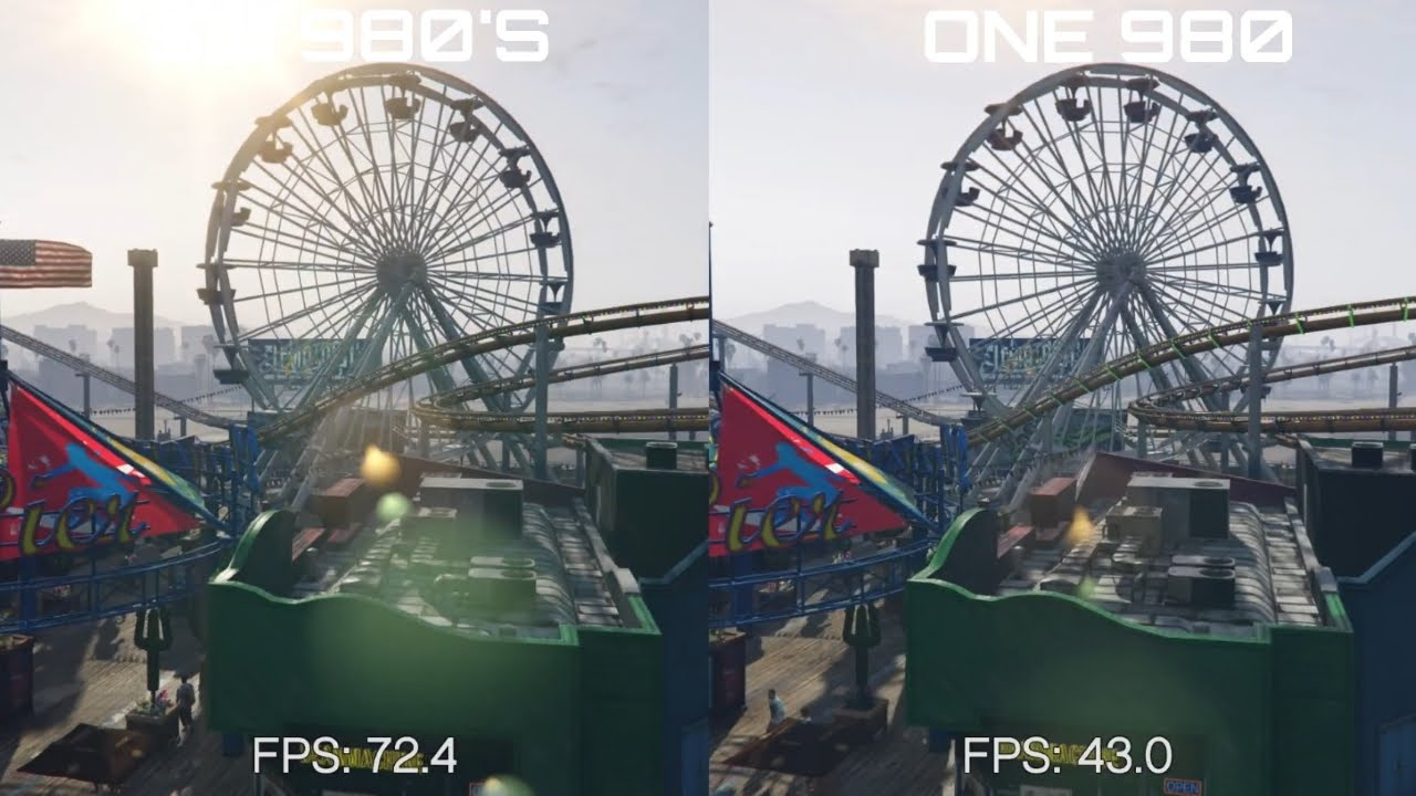GTA V PC Benchmark Max Settings 980 vs 980 SLI 60FPS
