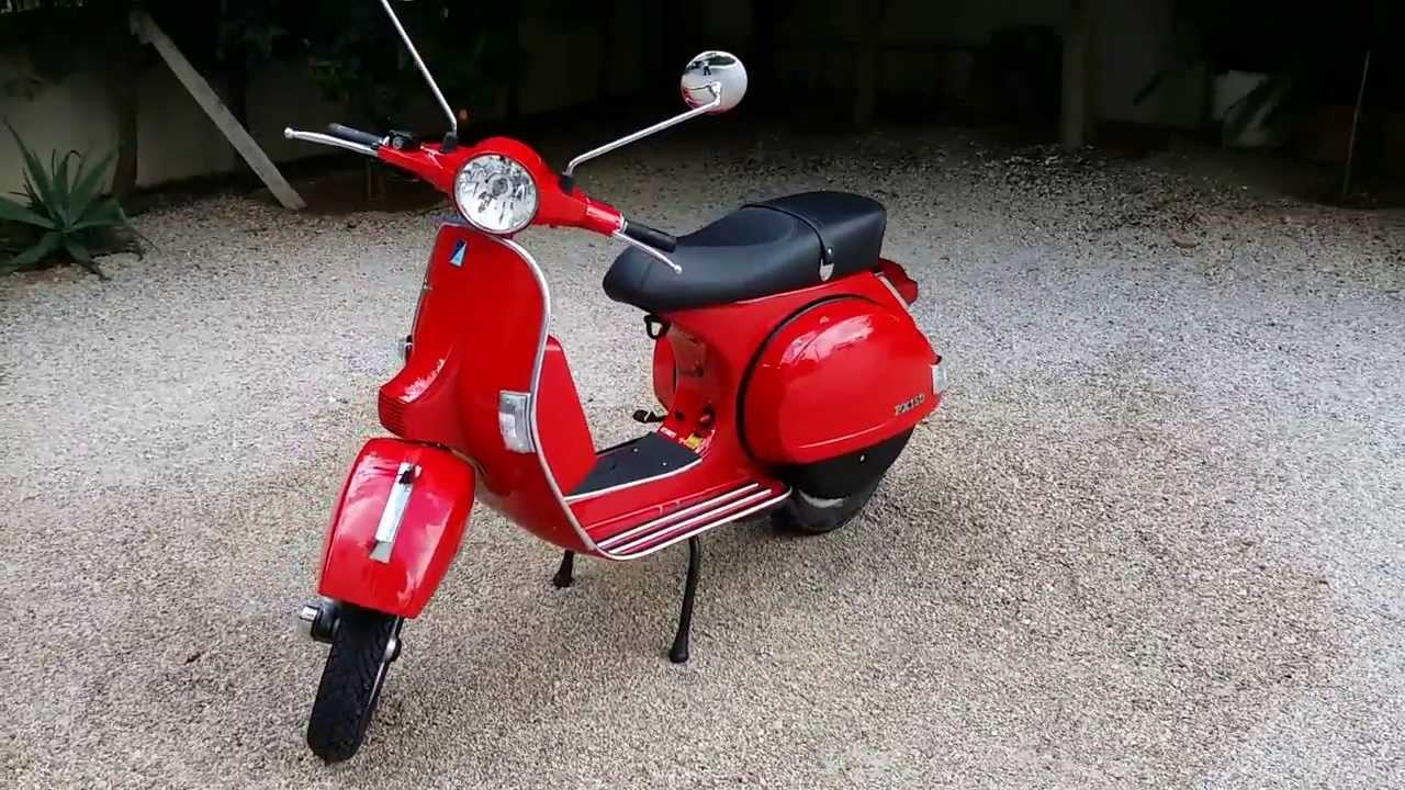 vespa px 150 red 2012 youtube. Black Bedroom Furniture Sets. Home Design Ideas