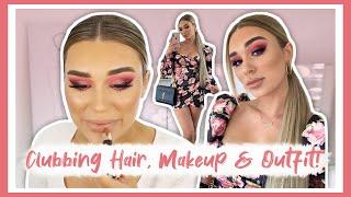 Full Beat Clubbing Makeup, Hair & Outfit! (LONGWEAR MAKEUP)