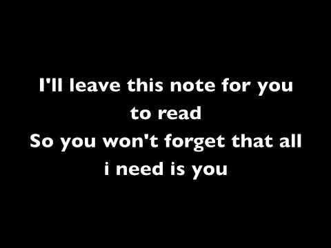 Never Too Late - Secondhand Serenade w/ Lyrics