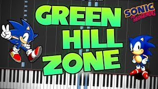 Sonic The Hedgehog Green Hill Zone Piano Tutorial Synthesia