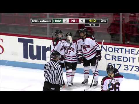 Northeastern University's Kendall Coyne Dekes Out Vermont to Score