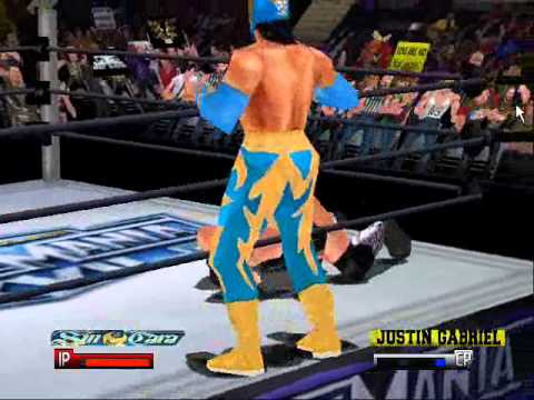 WWF No Mercy Hacked Moves (With Code) #156 Super Hurri-Sin Rana (Mod Game  *LINK* PLAYS MP3's) by AceThunder234
