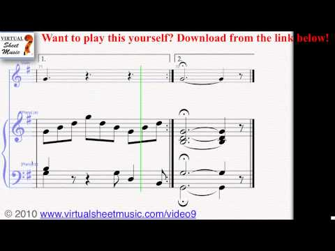 Johann Sebastian Bach's Jesu, Joy of Man's Desiring (Piano and Violin) sheet music - Video Score