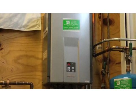 how does a tankless water heater work plumbing repairs youtube. Black Bedroom Furniture Sets. Home Design Ideas