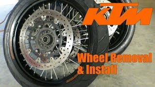 KTM Wheel Removal and Install | Back in the Garage