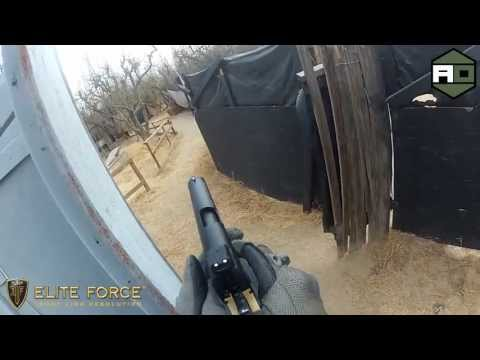 AIRSOFT ACTION - Dave's Pistol Killz - Elite Force 1911 Tac - Raven's Gate - Fresno Airsoft