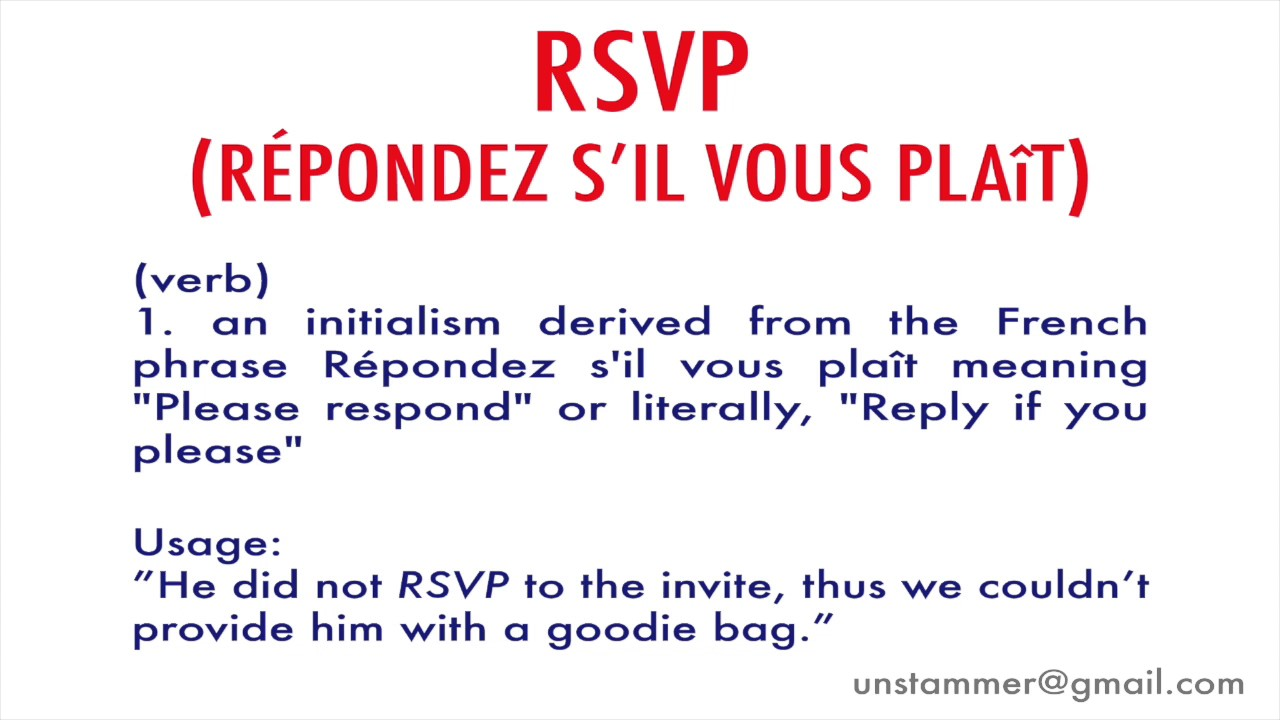 Whats the meaning of rsvp