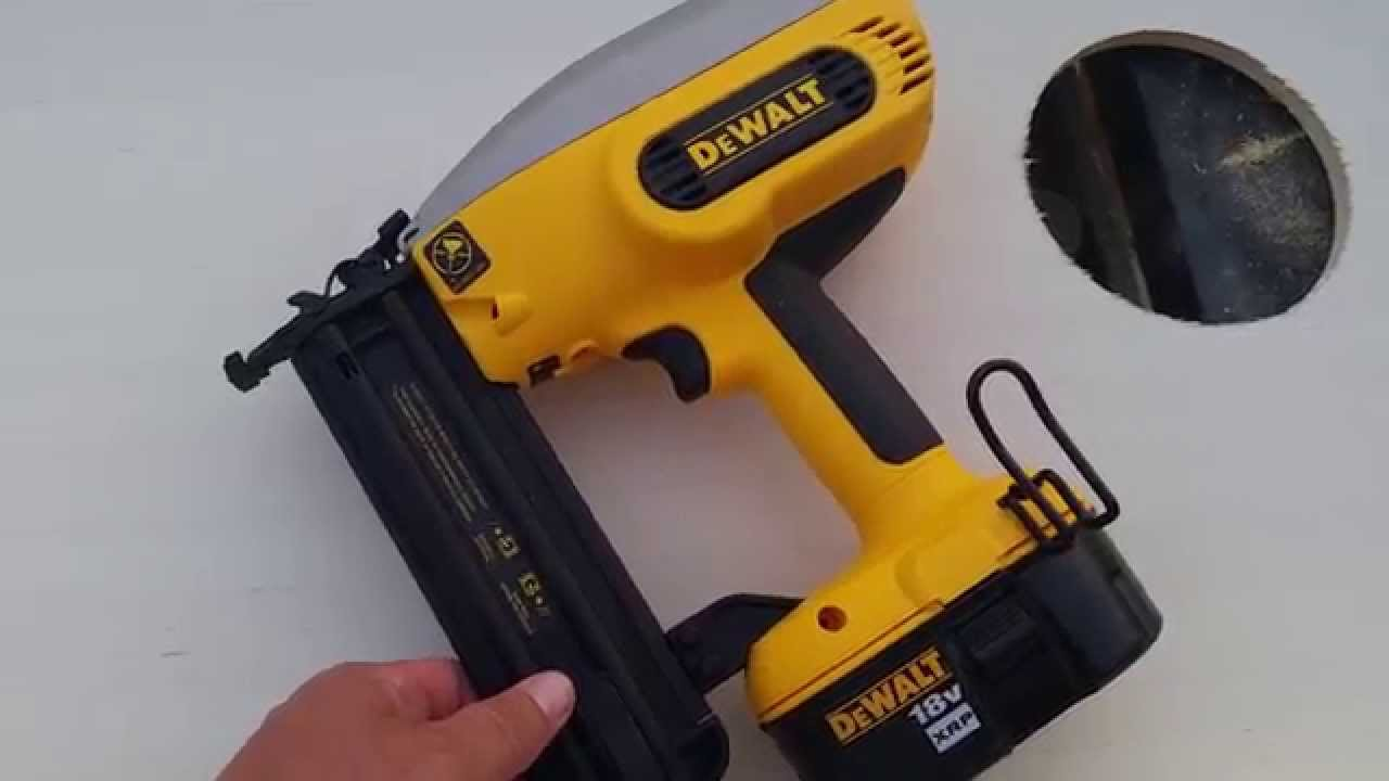 Dewalt 18 gauge cordless nailer review. - YouTube