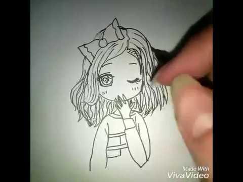 رسم بنت انمي كيوت جدا جدا سهل ورائعة Drawing Acute Girl Anime