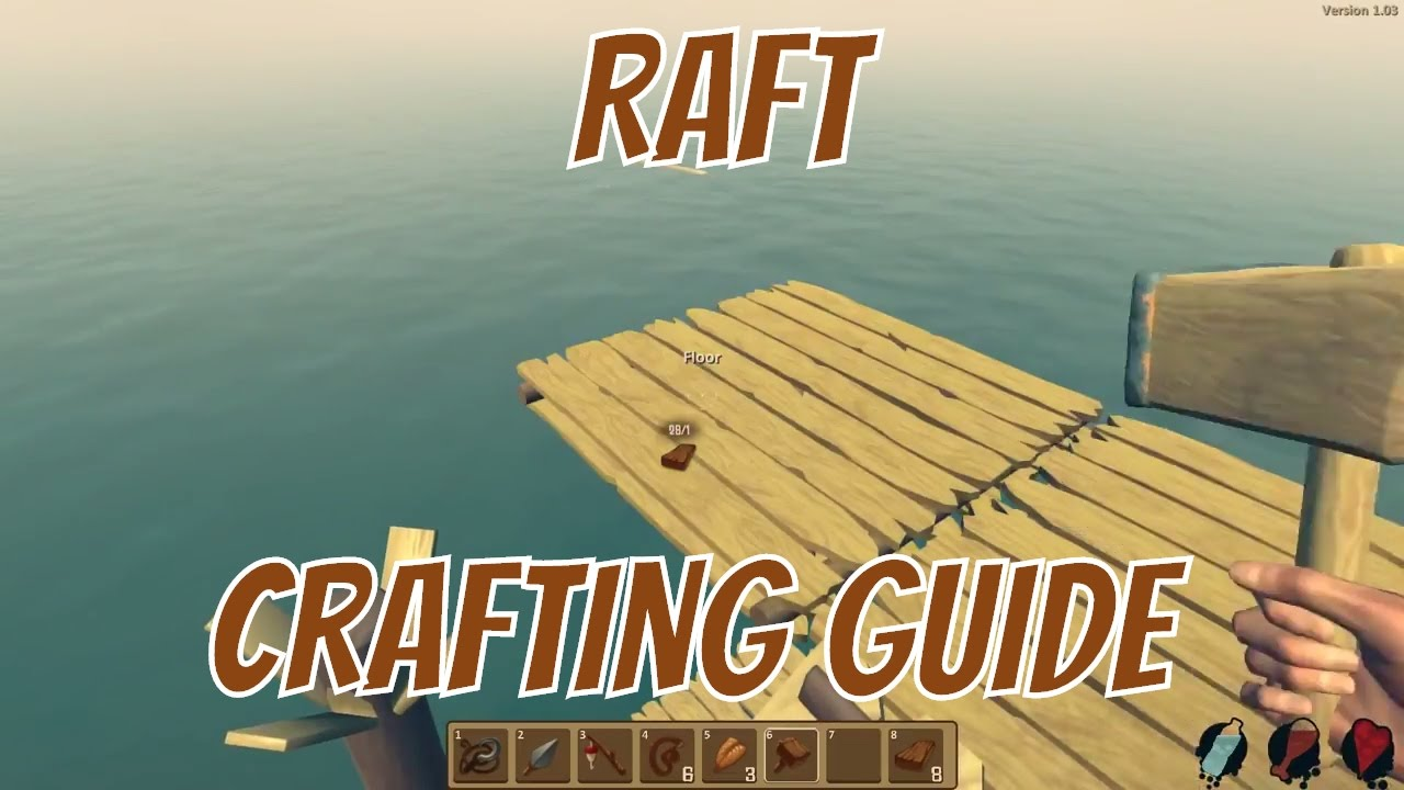 Raft crafting guide - Trapped on a raft - The Raft Gameplay HD