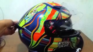 review helm agv k3 sv 5 continents