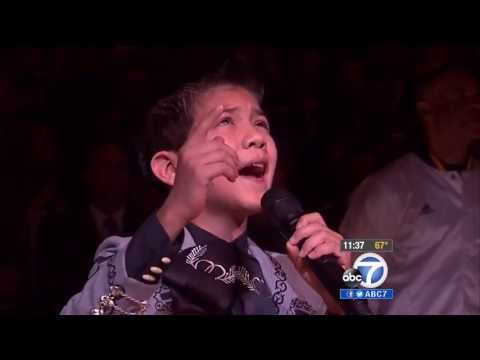 Illegal Immigrant Or Proud Mexican American Singing National Athem