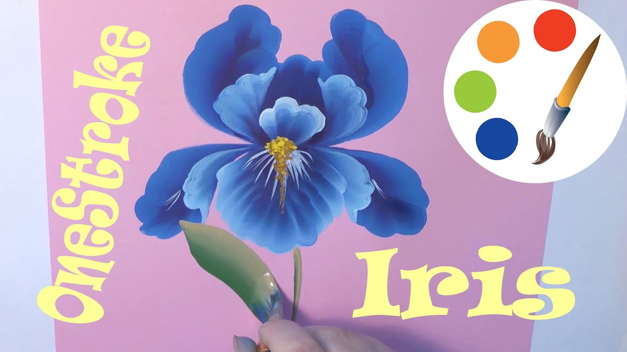 Onestroke painting the iris flower cmo dibujar una flor de iris onestroke painting the iris flower cmo dibujar una flor de iris irishkalia izmirmasajfo