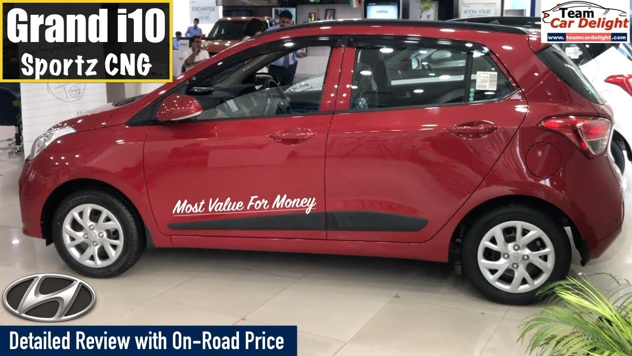 Grand I10 2019 Sportz Model With Company Fitted Cng Detailed