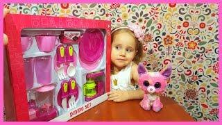 Посуда! Открываем детскую игрушечную посуду! С лисичкой Фокси! Обзор игрушек! | Златуня