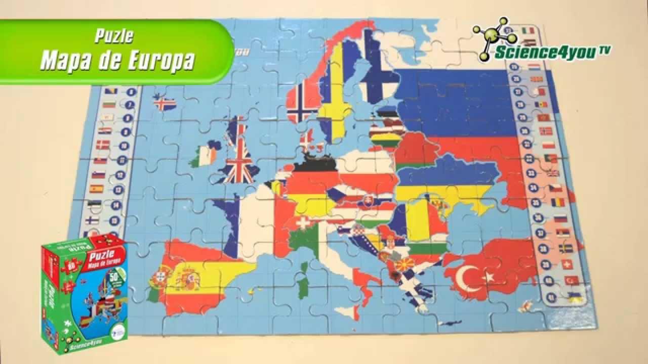 Puzle Mapa De Europa