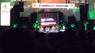 """Honolulu Marathon 2015 official theme song """"Blessing Rain""""  Live performance by Begin"""