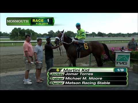 video thumbnail for MONMOUTH PARK 6-30-19 RACE 1