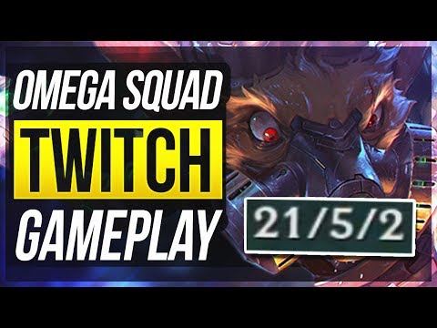 BY FAR BEST TWITCH SKIN!! HIS Q IS SO COOL! - Omega Squad Twitch Gameplay - League Of Legends