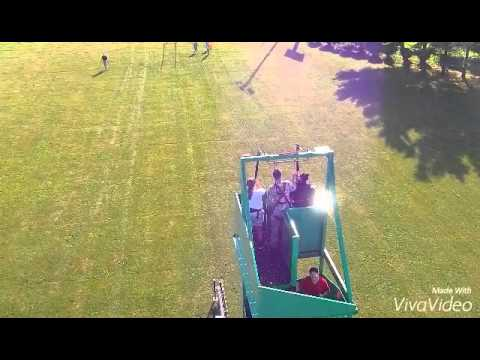 Zip line in Burlington, Iowa