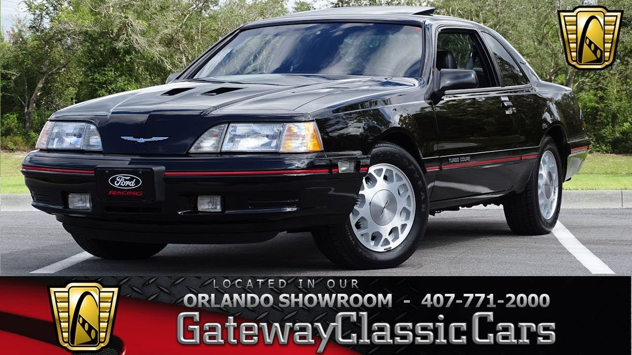 1988 Ford Thunderbird Turbo Coupe Gateway Orlando 1277 Youtube