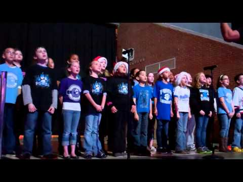 Pitts School Road Elementary School Chorus singing at Charlotte Checkers Game.MP4
