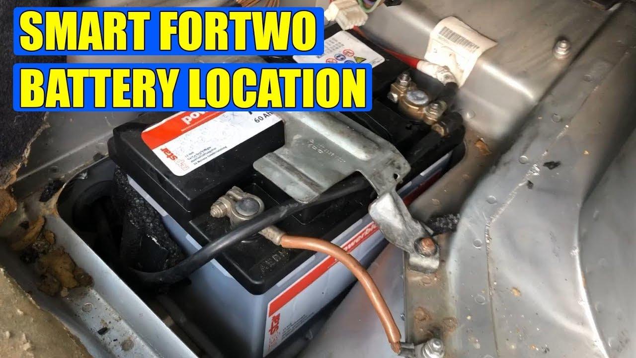 smart fortwo battery location youtube. Black Bedroom Furniture Sets. Home Design Ideas
