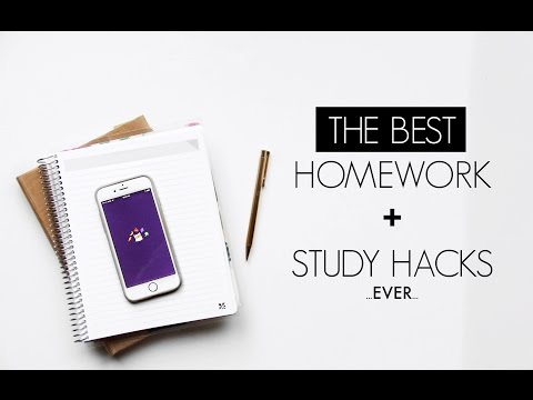 DIY STUDY HACKS FOR SCHOOL | Organization + Homework Tips! FREE Homework App!